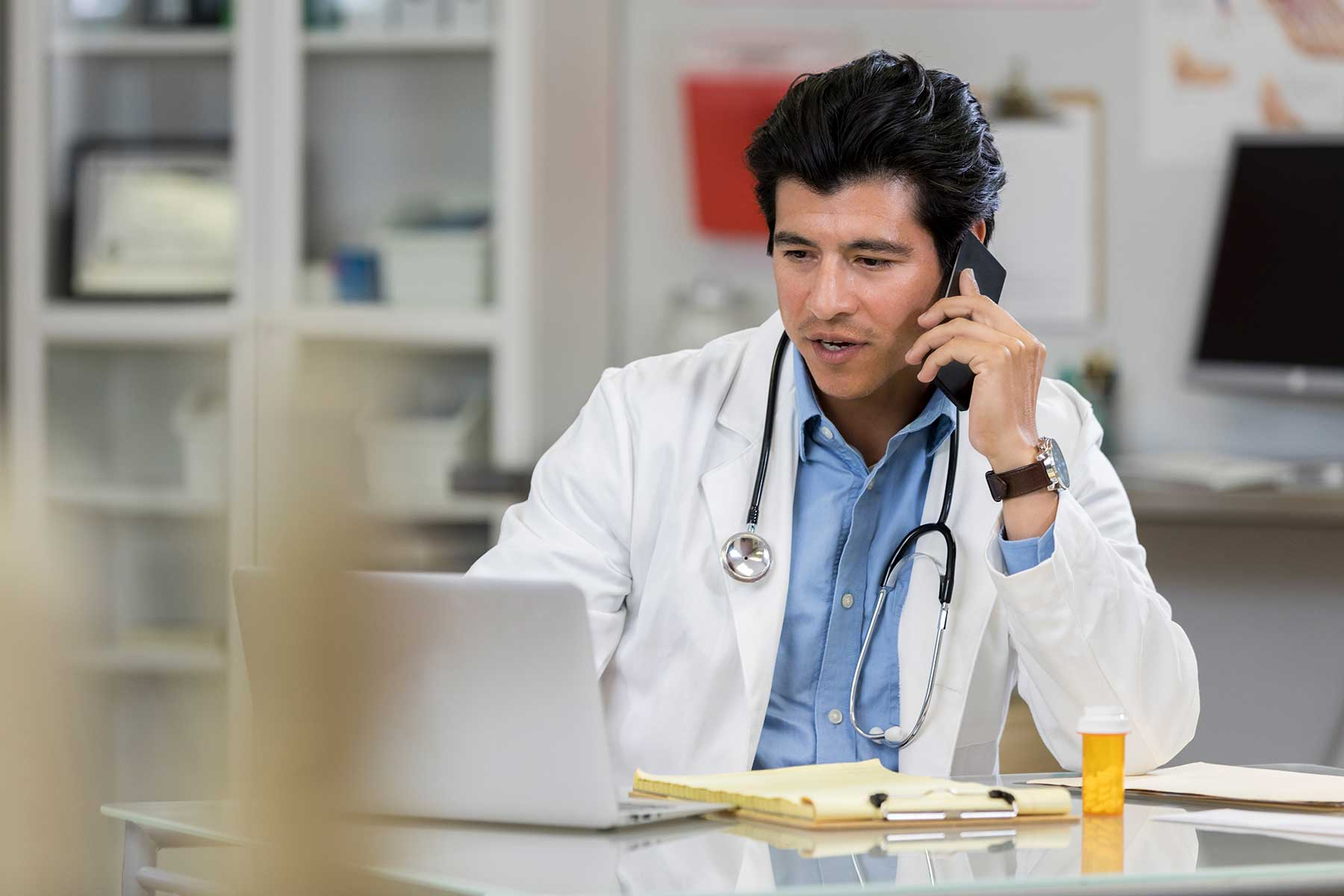 Dr on phone