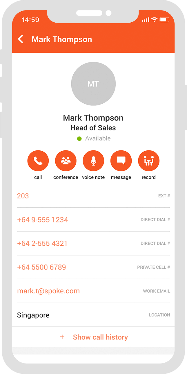 Spoke Phone Directory Profile