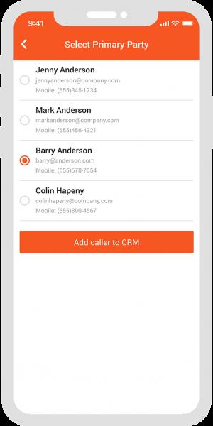 Spoke Phone CRM Info